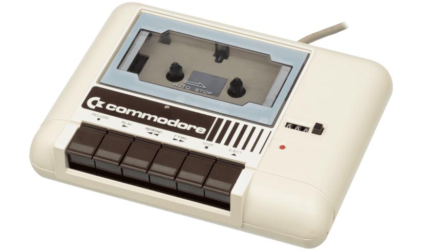 Imagen del lector de casette de la Commodore 64