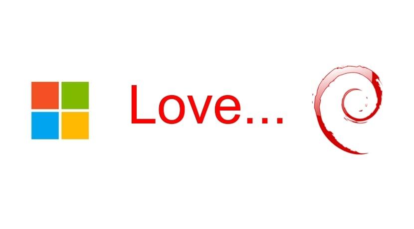 Debian 8 love Microsoft WIndows, logos