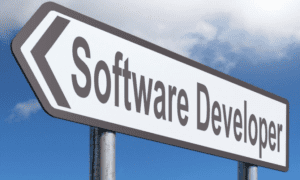 Cartel con las palabras Software Developer
