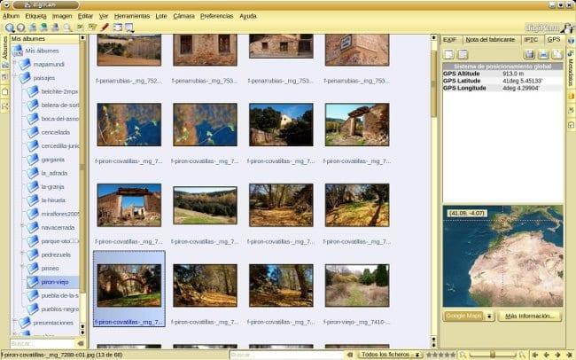 digiKam, aplicación para importar y gestionar fotos digitales
