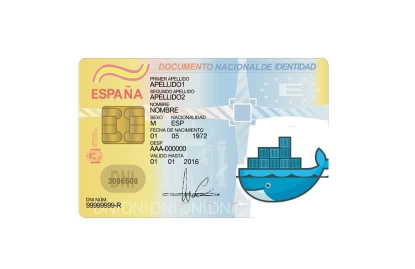 Docker logo en DNIe