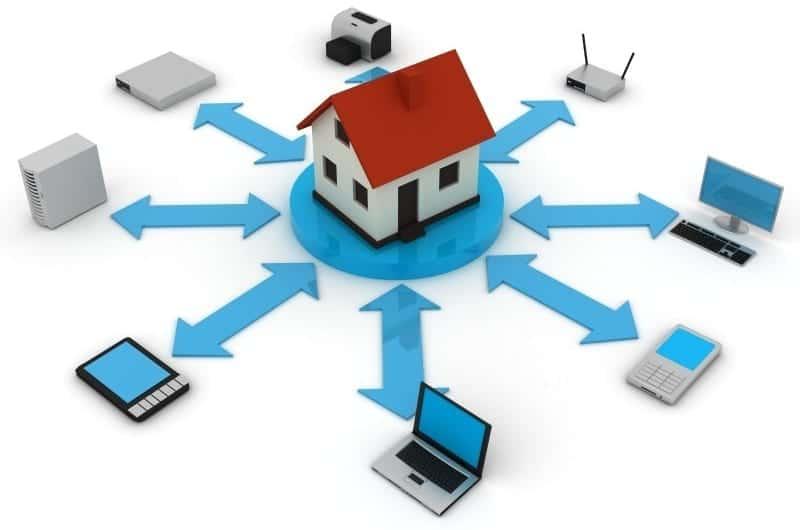 Casa conectada a dispositivos
