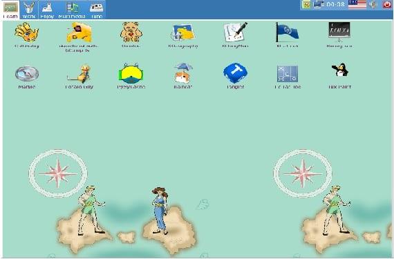 Interfaz gráfica con rasgos infantiles de DouDou