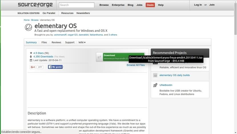 Web de descarga elementaryOS