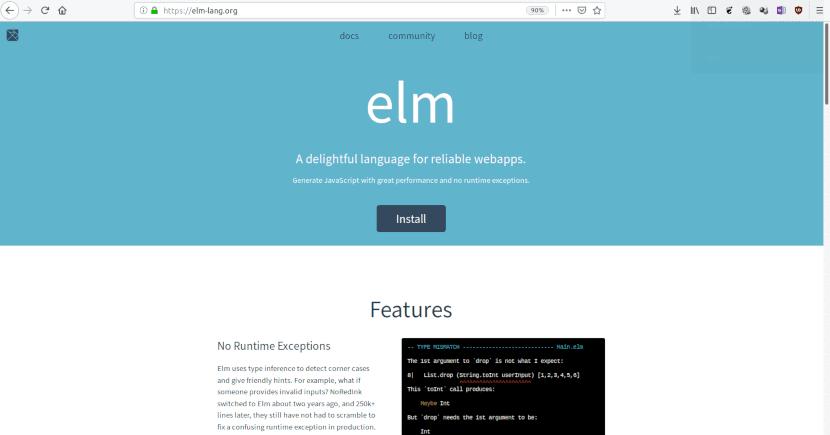 Sitio web de Elm