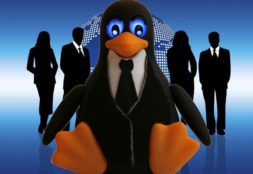 Empresarios y Tux Linux