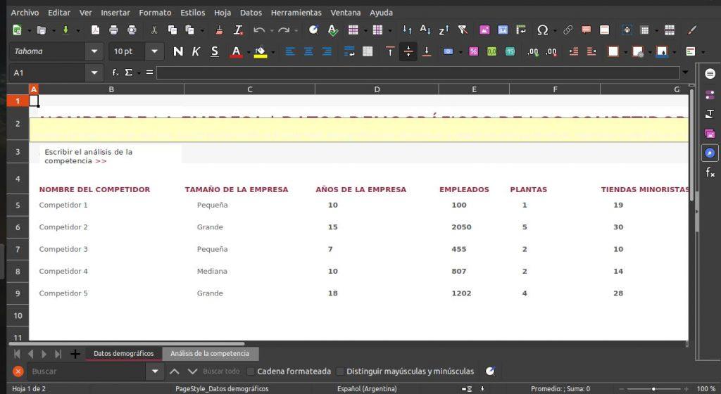 Más cosas sobre LibreOffice