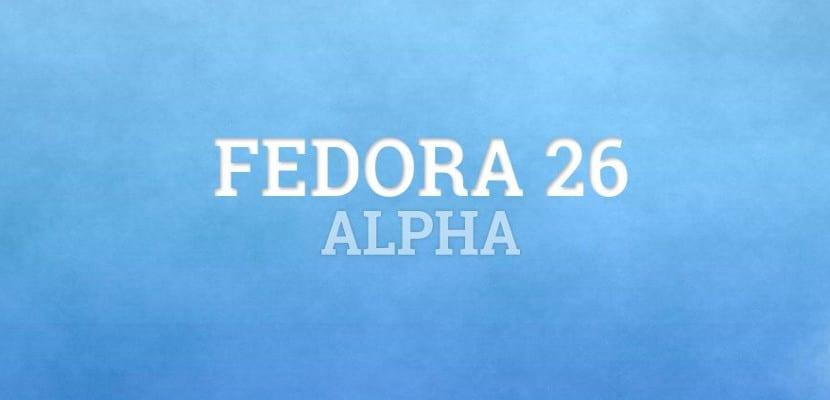 Versión Alpha de Fedora 26