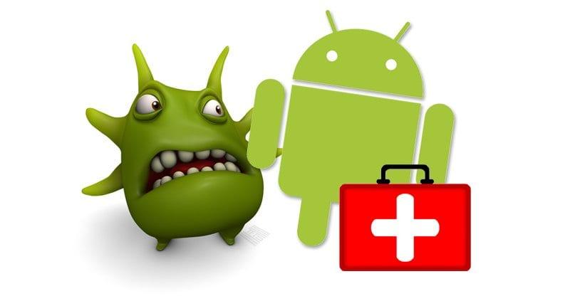 """""""Monstruito"""" junto a Andy, logo de Android"""