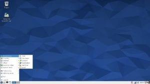 Imagen del spin LXDE de Fedora.