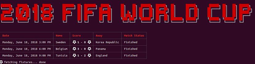 Aplicación para el Mundial de Fútbol