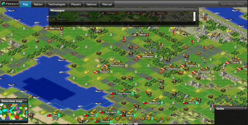 Captura de pantalla de Freeciv