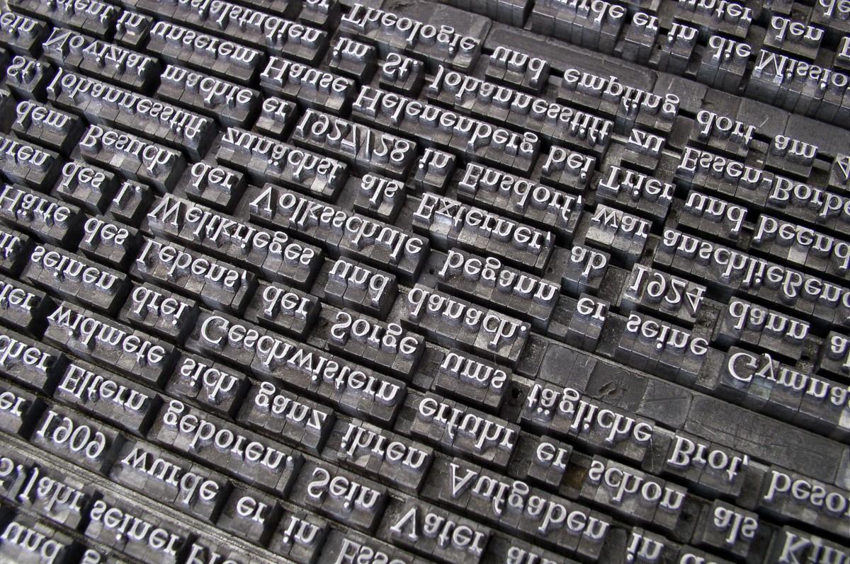 Fuente letra, imprenta