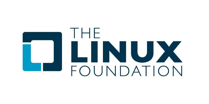 Logo de la Fundación Linux, con cuadrado abierto representando la libertad