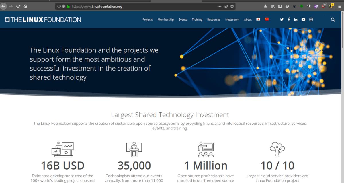 Página web de la Fundación Linux