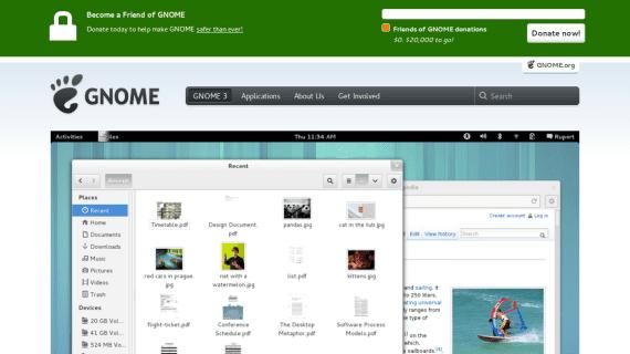 GNOME, donaciones para la privacidad