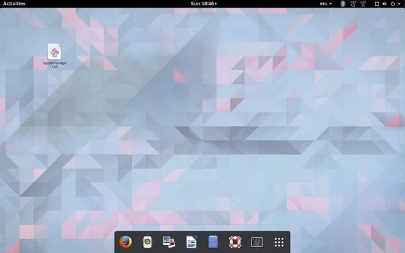 Gnome con aspecto de MacOS