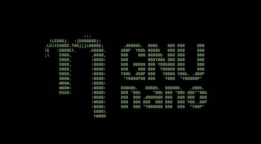 GNU nano en ASCII art