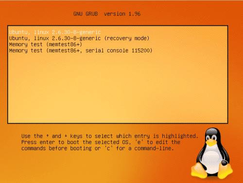 Grub de Linux