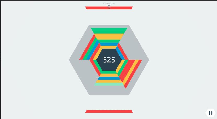 Hextris no puede considerarse exactamente un clon de Tetris