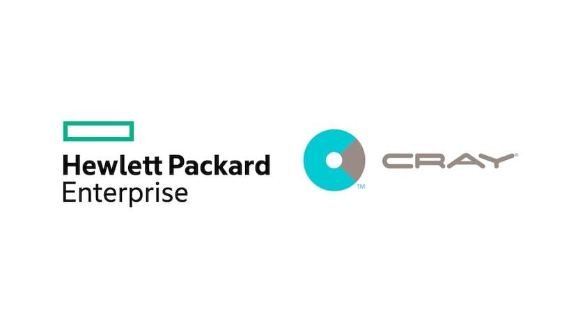 HPE y Cray logos