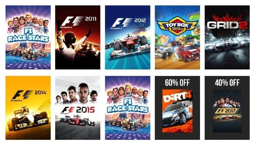 Pack de juegos de carreras