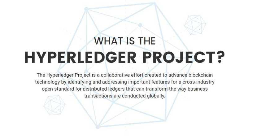 Hyperledger Logo y explicación en inglés