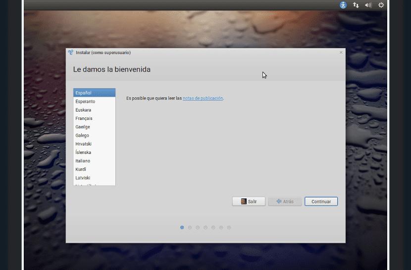 Captura de pantalla de la instalación de Trisquel
