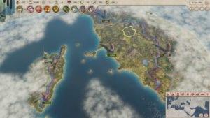 Captura de mapa en Imperator:Rome