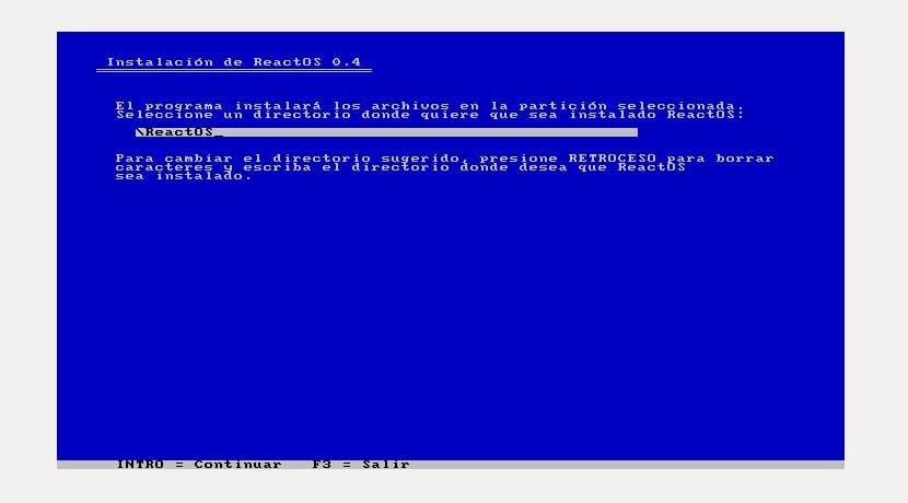 Instalar archivos