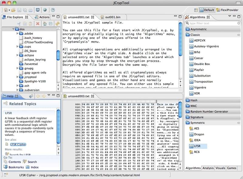 jCrypTool pantalla