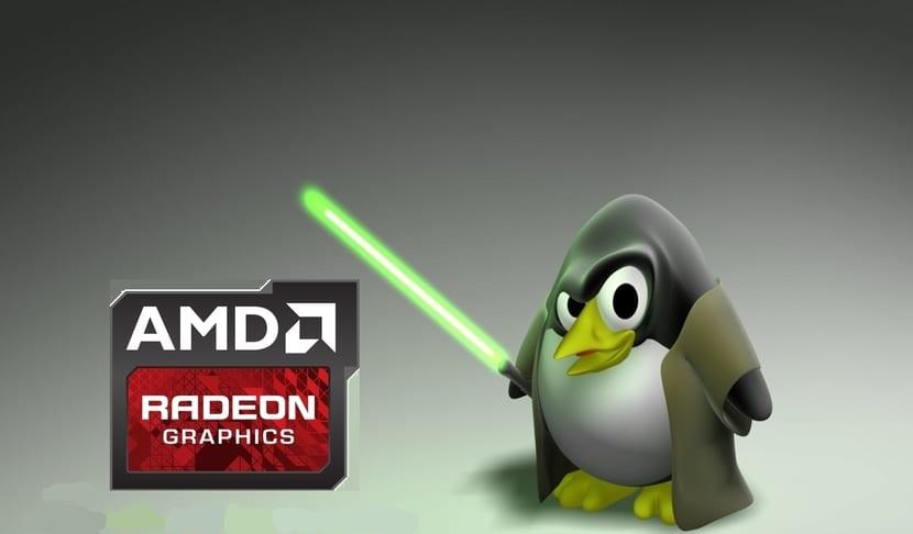 Tux jedi y logo AMD GPU Radeon Series