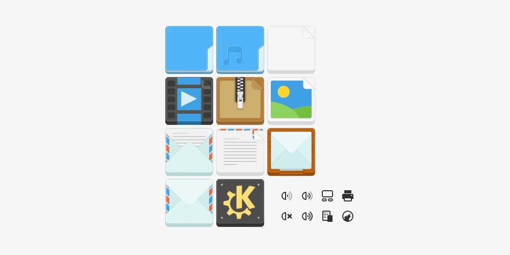 Nuevos iconos de KDE Plasma