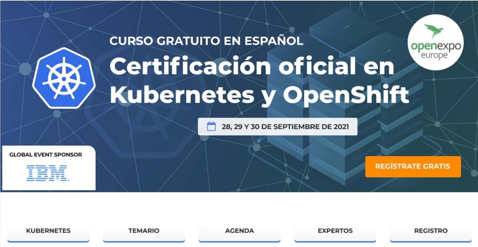 Kubernetes Openshift Curso gratis OpenExpo Europe