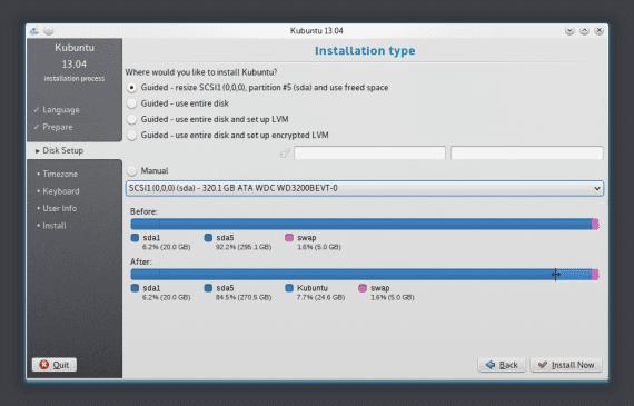 Kubuntu 13.04 Instalador
