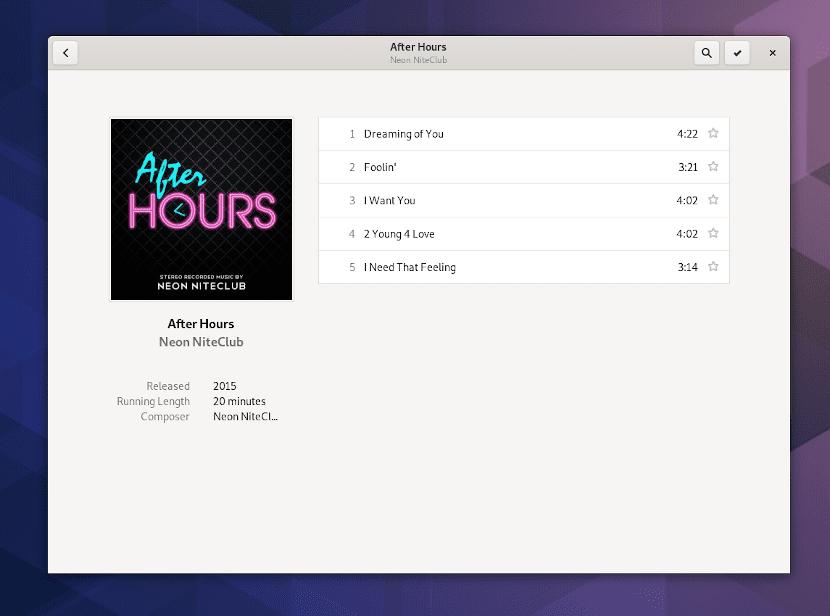 La aplicación de música de Gnome 3.34 trae mejoras en su aspecto y su funcionamiento
