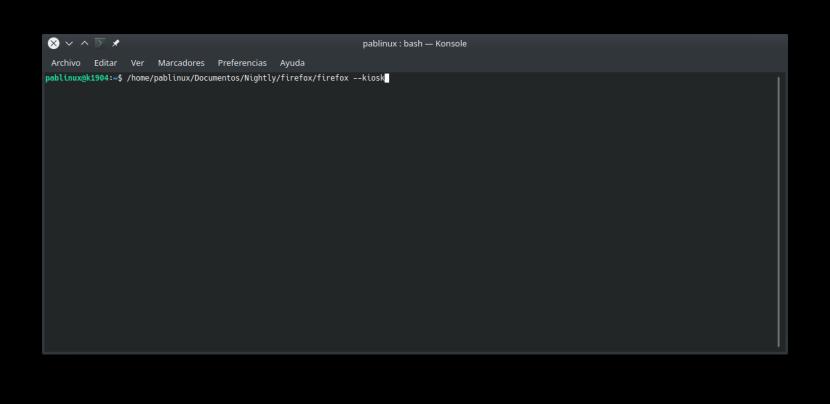 lanzar Kiosk Mode en Firefox