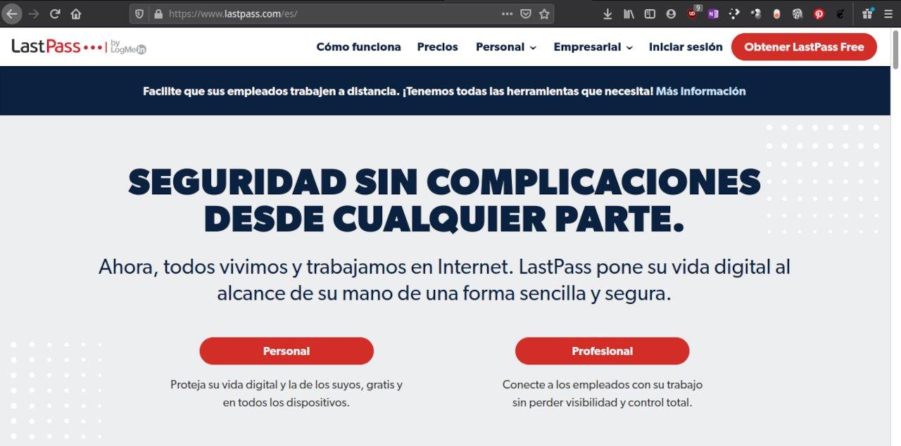 Versión gratuita de LastPass