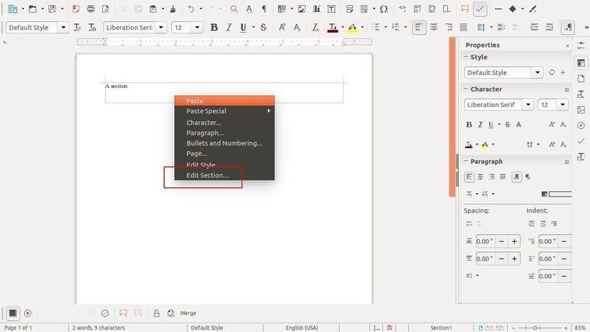 LibreOffice 5.x (Writer)