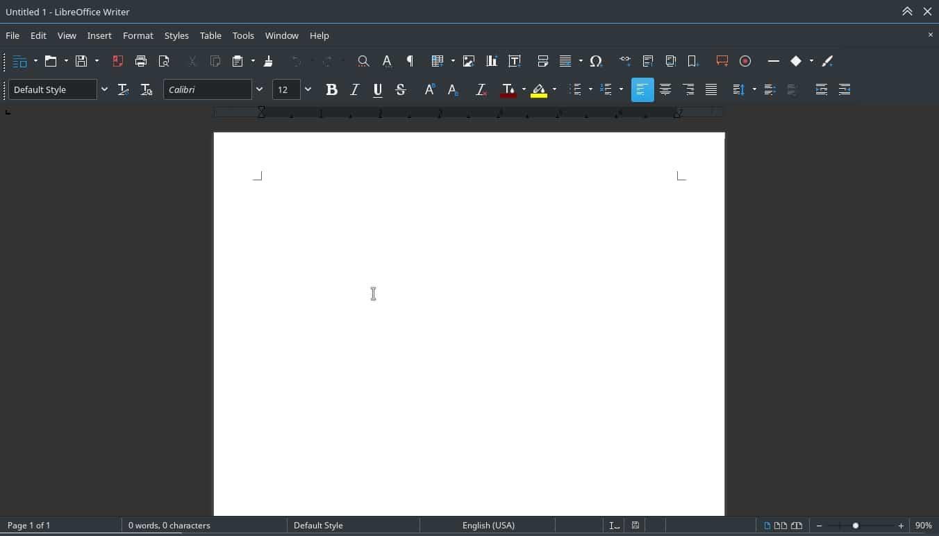 LibreOffice Modo Oscuro