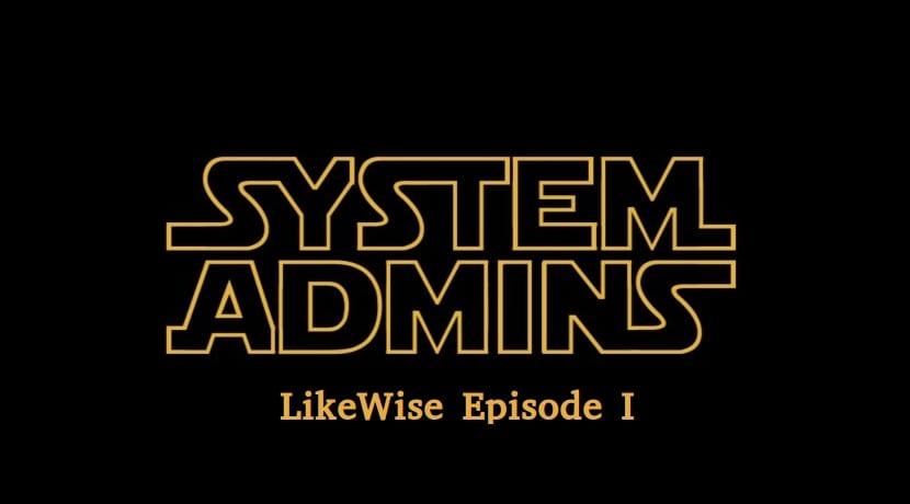 Star Wars letras con logo de Likewise