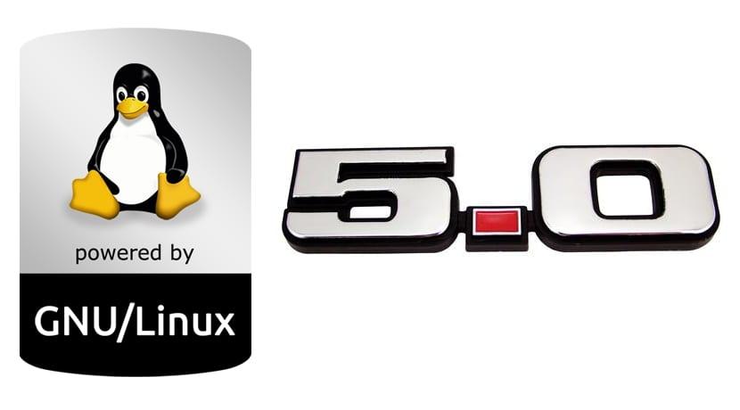Linux 5.0 logos