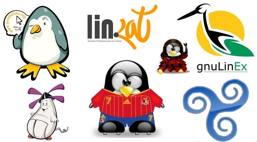 Tuxs y logos de proyectos españoles