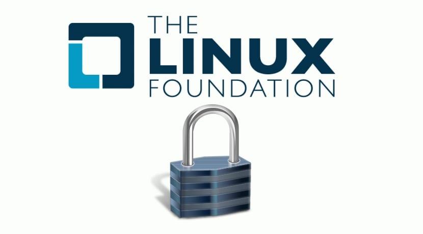 Linux FOundation logo y candado