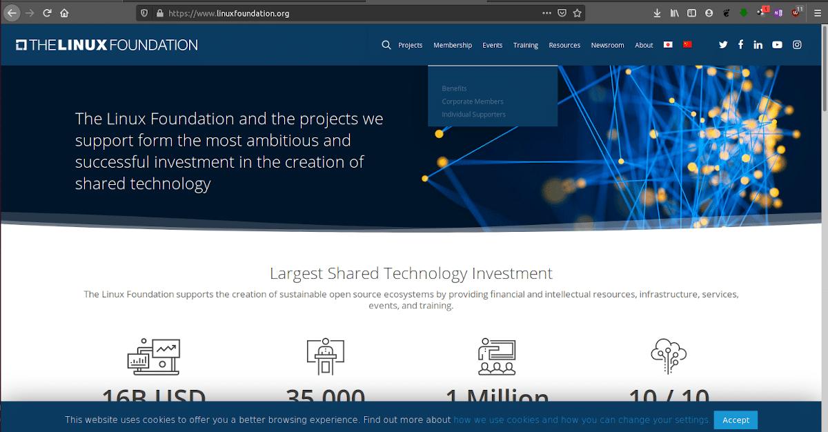 Web de la Linux Foundation