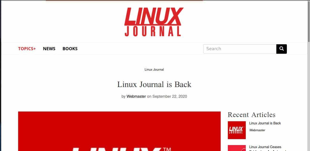 Linux Journal está de vuelta