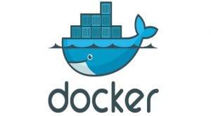 Logo de Docker: ballena cargada de contenedores