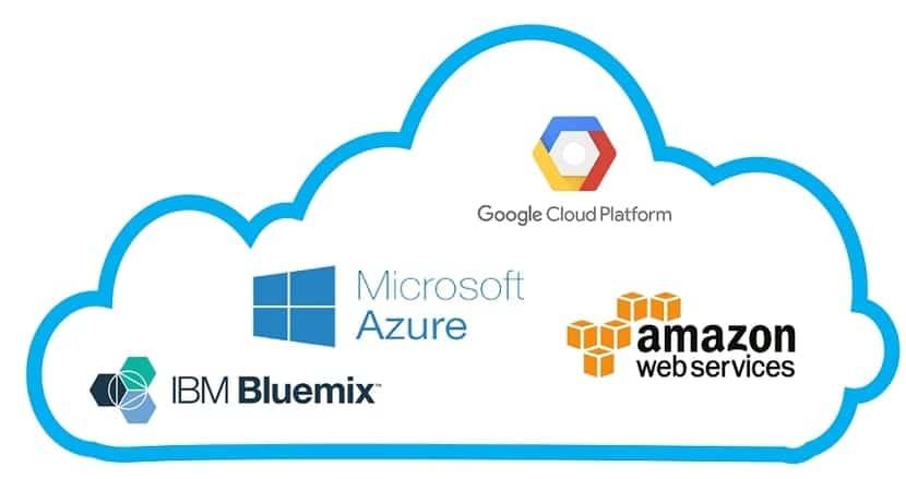 Logos de los servicios cloud más conocidos