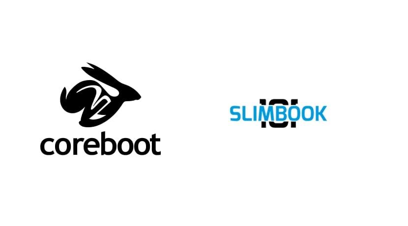 Logos de Coreboot y Slimbook