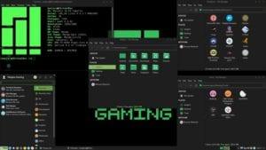 Escritorio de Manjaro Linux Gaming